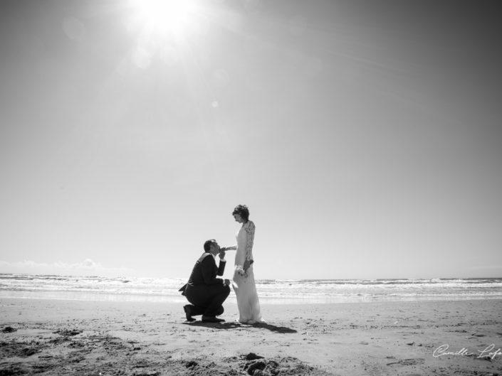 Photo de Mariés sur la plage près de Montpellier