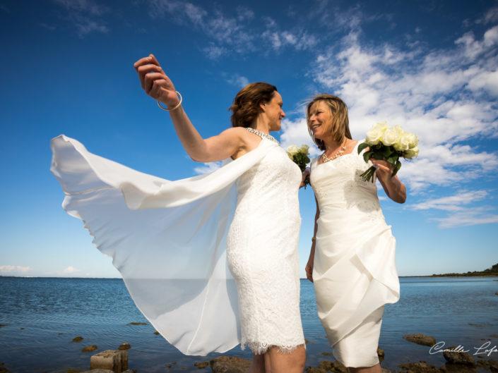 Mariage civil LGBT à Vic la Gardiole. Photographe de mariage à Montpellier